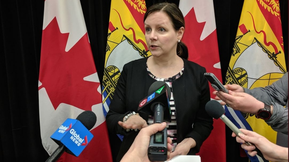 """The fact that they're all directly linked is reassuring, in the sense that we know how everybody contracted measles,"" New Brunswick's Chief Medical Officer of Health Dr. Jennifer Russell said in an interview Saturday. (LAURA LYALL / CTV)"