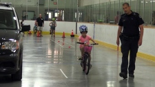 Teaching safety at the Guelph Bike Rodeo