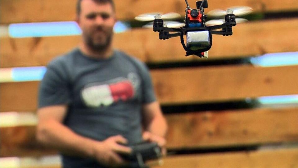 Winnipeg drone enthusiast Evan Turner