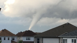 A user-submitted image shows a tornado that touched down in the Ottawa area on June 2. Photo credit: Chrystian.