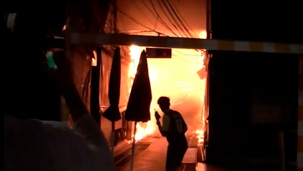 thai market fire