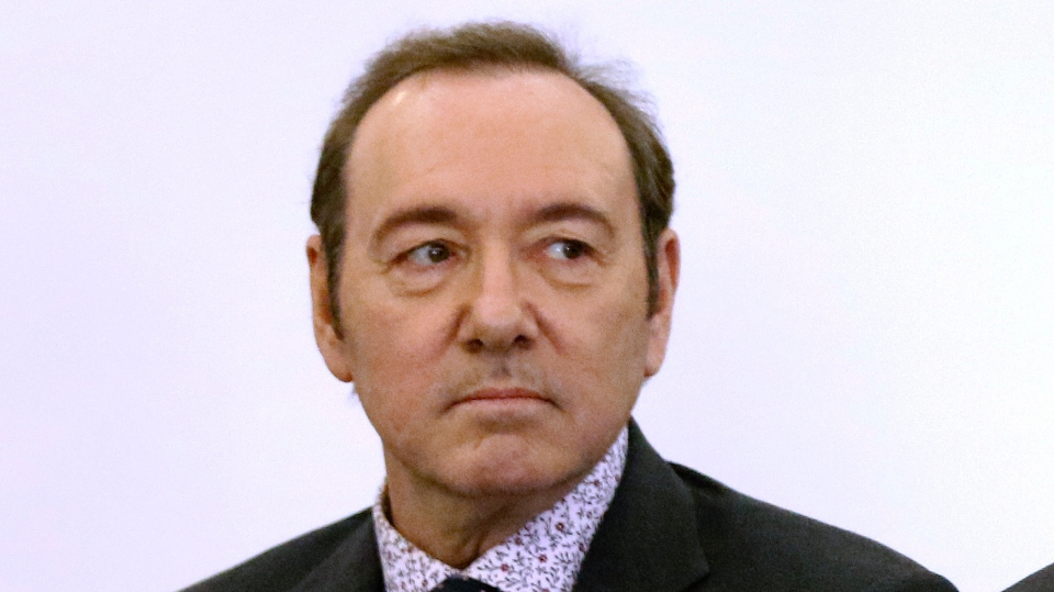 In this Jan. 7, 2019 file photo, actor Kevin Spacey stands in district court during arraignment on a charge of indecent assault and battery in Nantucket, Mass.(Nicole Harnishfeger/The Inquirer and Mirror via AP, Pool, File)
