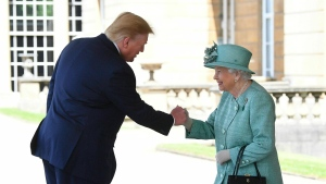 Queen Elizabeth II and Trump