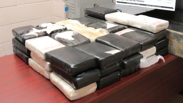 58 kilos of suspected cocaine seized at border, Brantford man