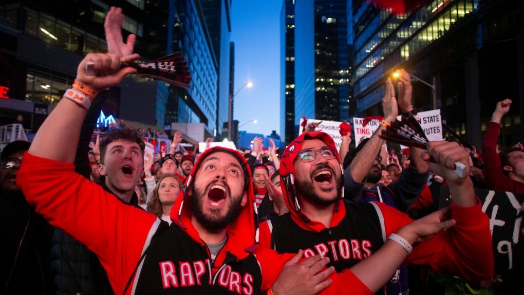 Toronto Raptors fans in Jurassic Park