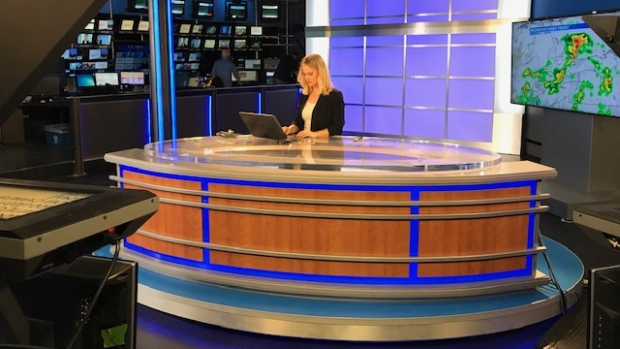CTV's Sacha Long works on the new CTV London news set on Monday, June 3, 2019. (Steve Young / CTV London)
