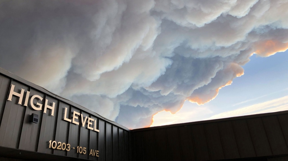 This image was shared by the Town of High Level, Monday, June 3, 2019, warning residents the wildfire outside of High Level is still classified as out of control.