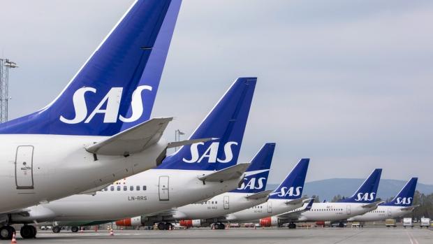 SAS planes at Oslo Gardermoen airport