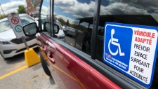 Police are reminding people not to use disabled parking spaces (photo: Scott Prouse / CTV Montreal)