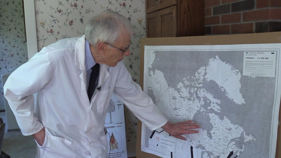Dr. John Scott, a Lyme Disease researcher, speaks in Fergus, Ont. (Celine Moreau / CTV London)