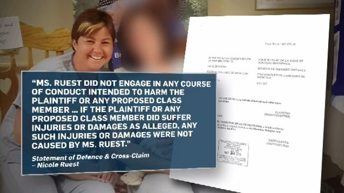 Police never released the name of the nurse at the center of the allegations because she was never formally charged. The women who were given the labour-inducing drug, however, have launched a class-action lawsuit against the nurse, Nicole Ruest, who worked at The Moncton Hospital. She has since been fired.