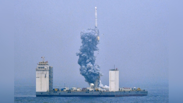 China launches rocket from ship at sea for first time