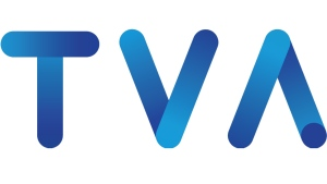 The logo for TVA, the private television network