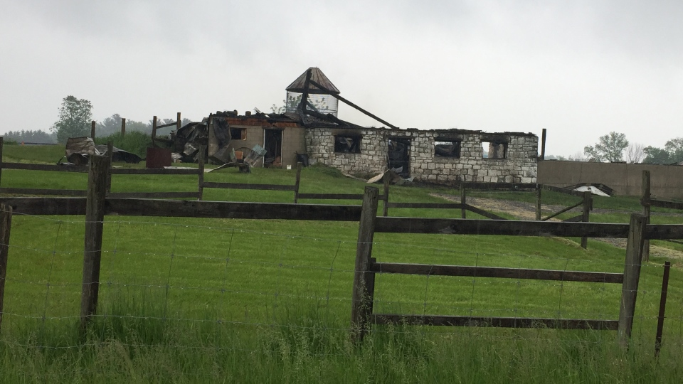 Colton's Fun Farm after a fire