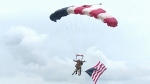 97-year-old U.S. veteran parachutes for D-Day