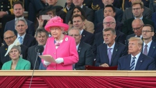 Queen Elizabeth II delivers a speech