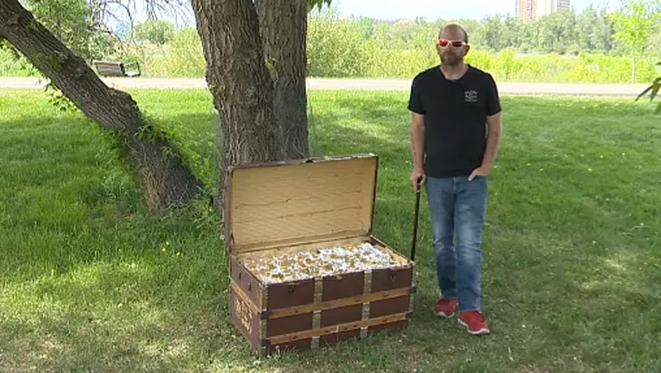 Jeff Lerue said used Google Maps to help track down where Calgary's $100,000 prize was hidden.