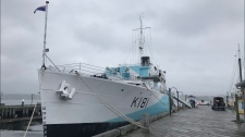 HMCS Sackville emerges from refit