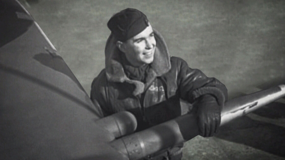 Charley Fox, a flight lieutenant with the Royal Canadian Air Force from Guelph, Ont., is seen here.