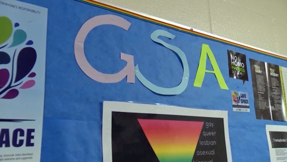Gay-Straight Alliance sign