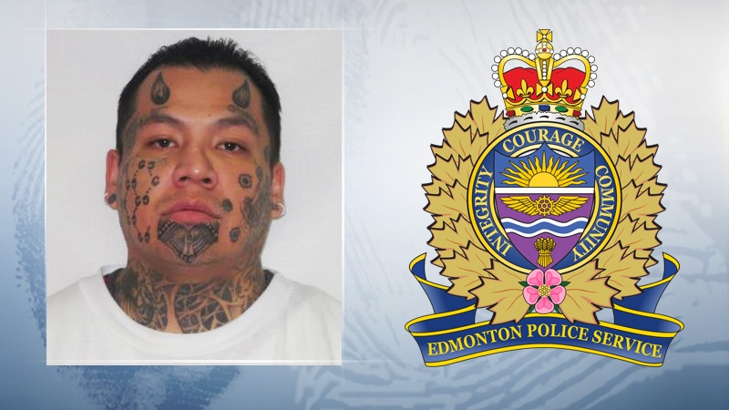 Edmonton police searching for man with devil horns tattooed on forehead