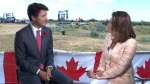 Lisa LaFlamme sits down with PM Trudeau at Juno B