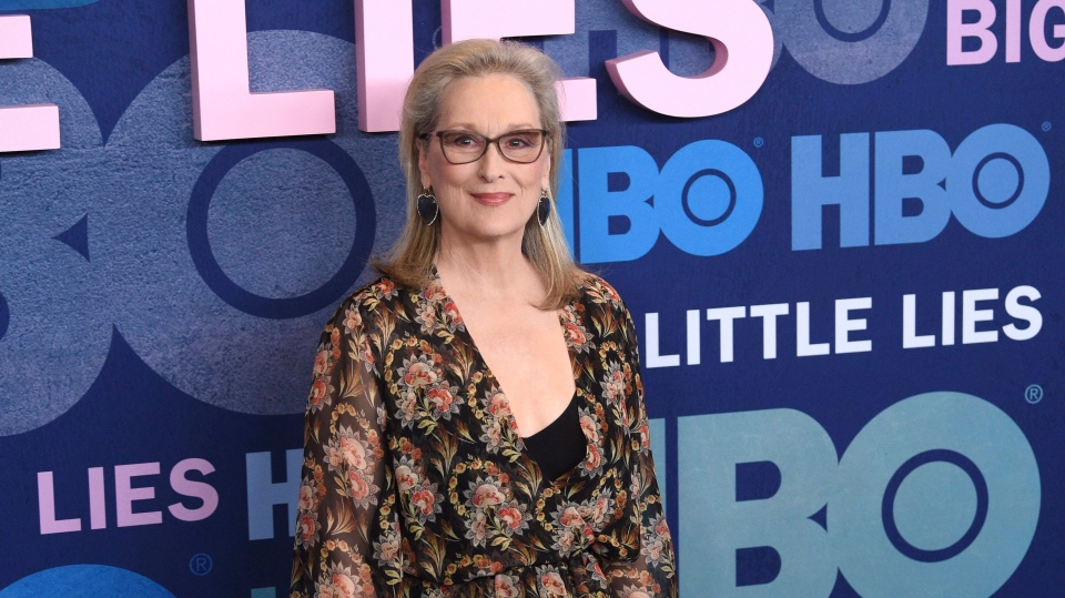 """Meryl Streep attends the premiere of HBO's """"Big Little Lies"""" season two at Jazz at Lincoln Center on Wednesday, May 29, 2019, in New York. (Photo by Evan Agostini/Invision/AP)"""