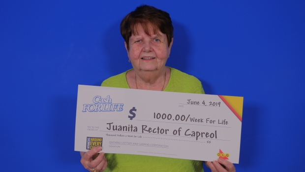 Juanita Rector of Capreol wins Cash for Life