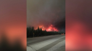 Wildfire in northern Alberta.