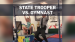Trooper loses pull-up contest to little girl