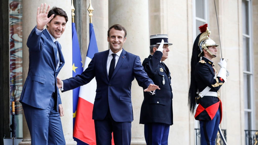 Trudeau concluding three-day French trip with Macron meeting in Paris