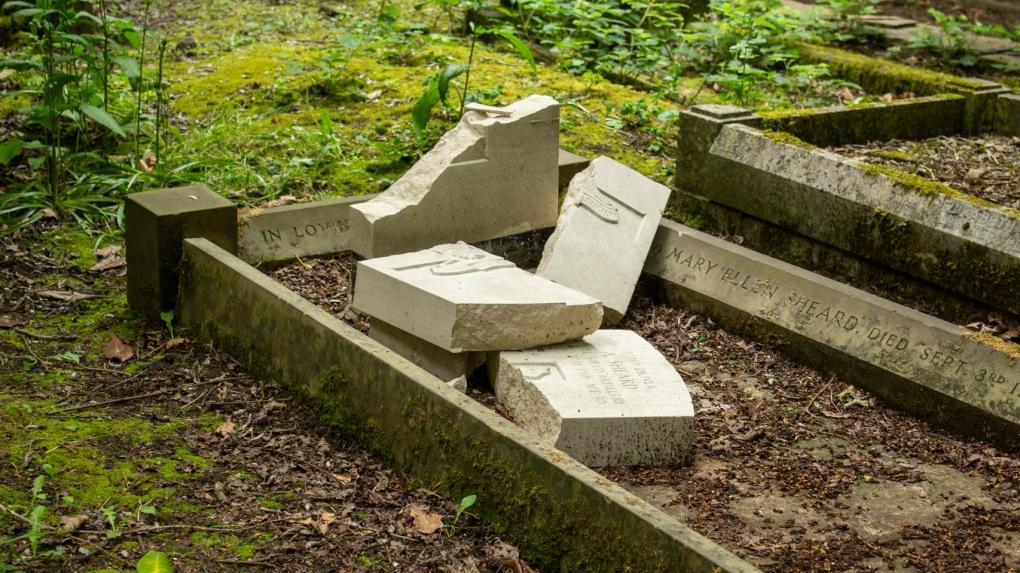 Vandals smash U.K. war graves ahead of D-Day commemorations