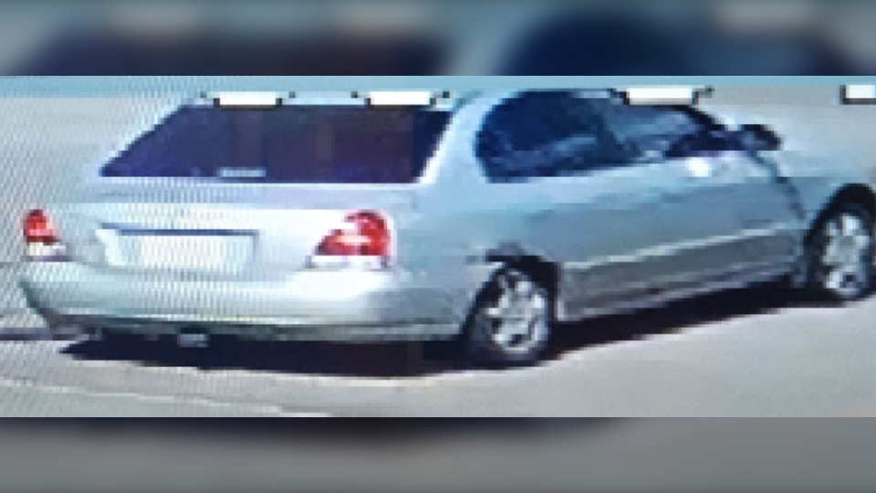 Police say the vehicle is a silver Hyundai Elantra. (Supplied)