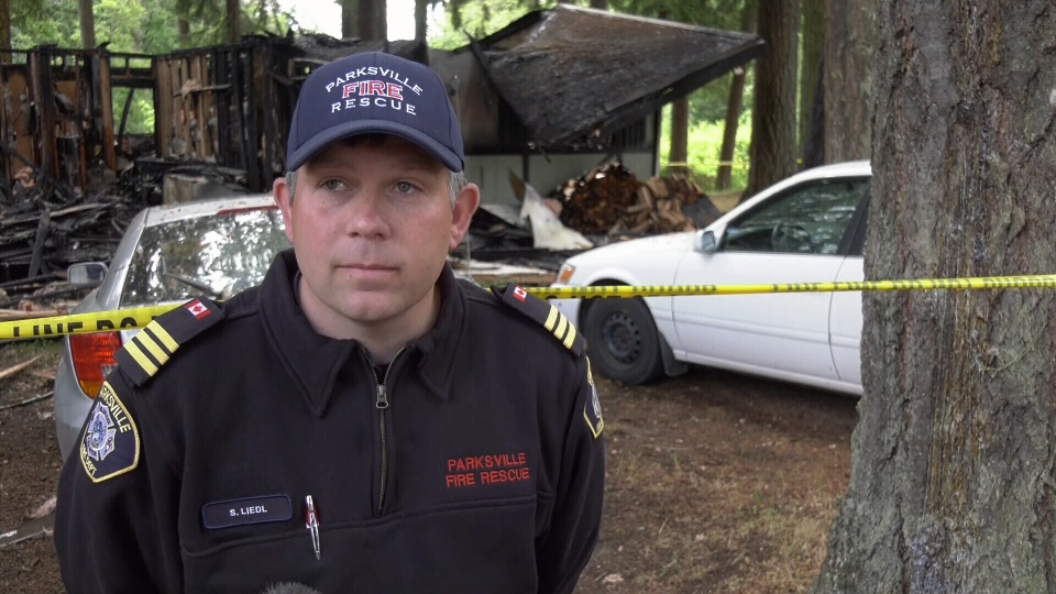 Assistant Chief Steven Liedl of the Parksville Volunteer Fire Department on June 7, 2019. (CTV Vancouver Island)