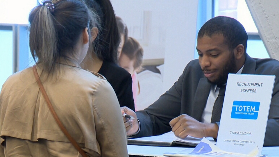 A job fair in Montreal encouraged immigrants to find work outside of the city.