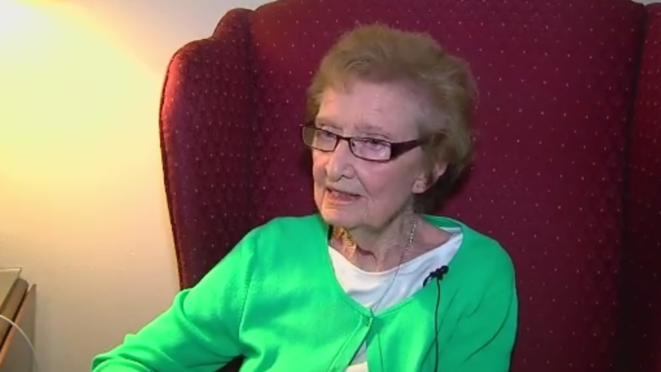 Catherine Ritchie, 90, was rescued from a fire in her home in Oklahoma in May.