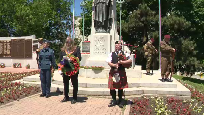 Solemn D-Day ceremony held at the Guelph cenotaph. (June 8, 2019)