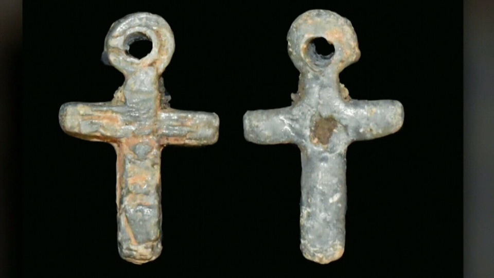 Archaeologists believe that the tiny lead cross discovered in Saint John dates all the way back to the settlement of nearby provincial historic site Fort La Tour in the 17th century.