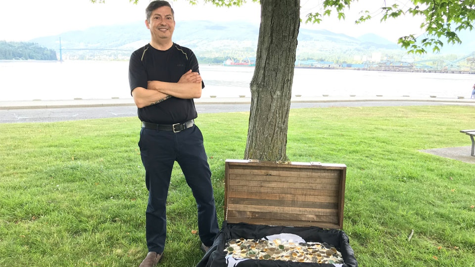 Marko Cerda, a limo driver from Burnaby, found the buried silver and gold just 18 hours after purchasing his map.