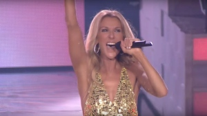 Celine Dion released three new songs Wednesday morning.