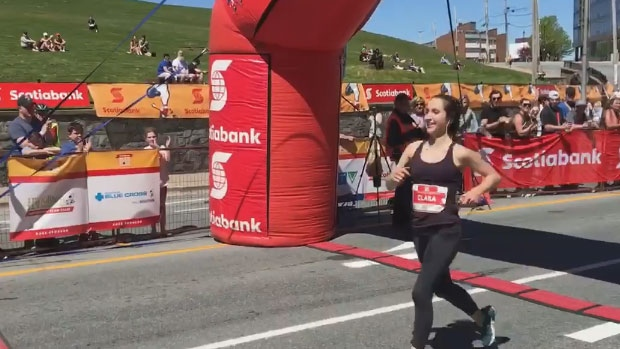 23-year-old Clara Lownie was the first woman to cross the finish line with a time of 3:24:24, setting a personal best.