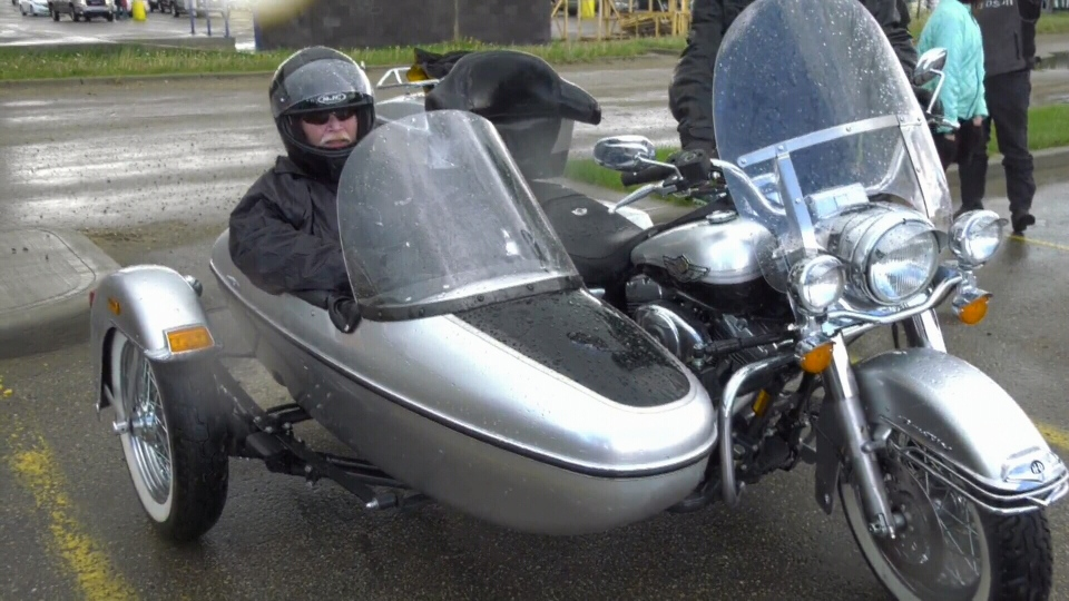 Lloyd Patterson was taken for a ride in a motorcycle sidecar, in Drayton Valley, Alta., on Sunday, June 9, 2019.