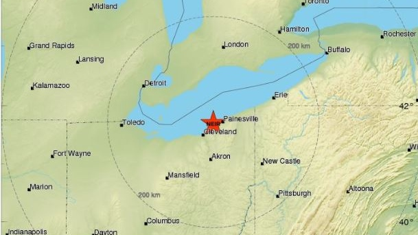Lake Erie Earthquake