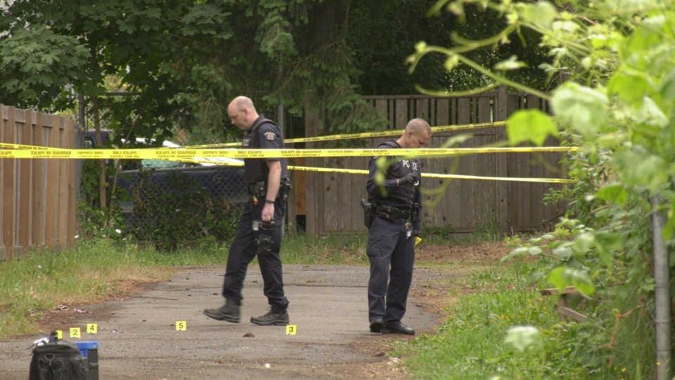 Police were out once again Monday morning to investigate another reported shooting in the Courtenay neighbourhood. June 10, 2019. (CTV Vancouver Island)