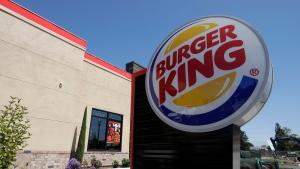 FILE - This April 25, 2019, file photo shows a Burger King in Redwood City, Calif.  (AP Photo/Jeff Chiu, File)