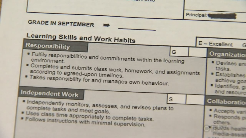 Teachers said they would no longer complete student report cards and opted, instead, to provide school administrators with marks and one brief comment.