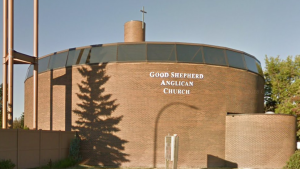 The Good Shepherd Anglican Church in Edmonton Alta., where Anthony Joseph Raine's body was found is seen in this image. (Google Maps)