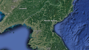 North Korea is shown in this satellite image (Google Maps)