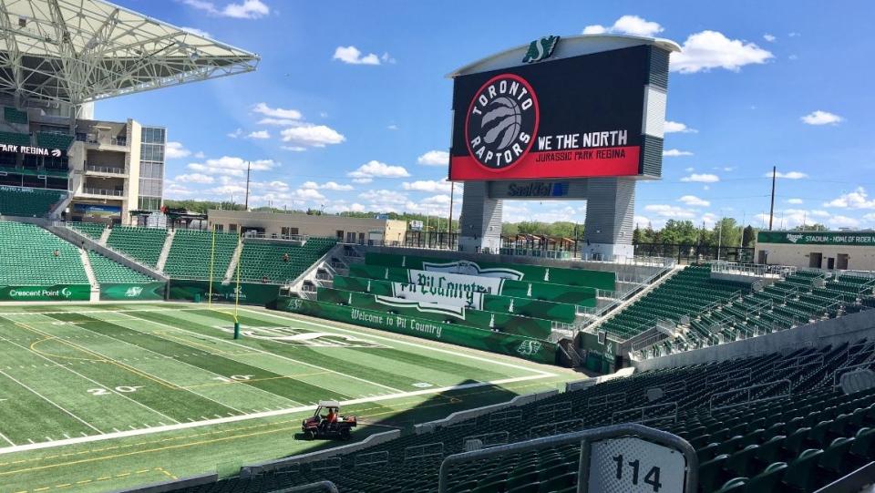 Jurassic Park at Regina's Mosaic Stadium (Gareth Dillistone / CTV Regina)