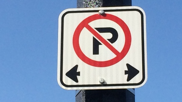 No parking traffic sign pictured. (CTV News Barrie)